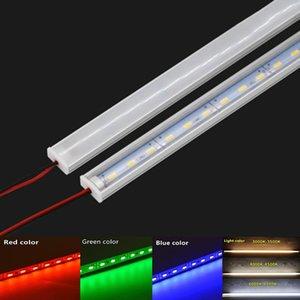 Bar Lights Led Hard Light DC12V 50Cm 20 Inch Strip SMD5730 36Leds U Shape Flat Aluminum Channel Rigid For Indoor Lighting