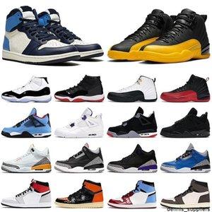 أحذية رجالي كرة السلة jumpman 1 ثانية سبج UNC 12S جامعة الذهب 4S أسود القط الأرجواني 5 ثانية البديل bel 11 ثانية concord bred الرجال النساء حذاء