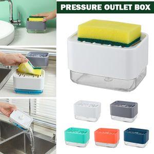 Kitchen Hand Press Lye Storage Pump Dispenser Press Soap Box Detergent Filling Injector Sponge Automatic