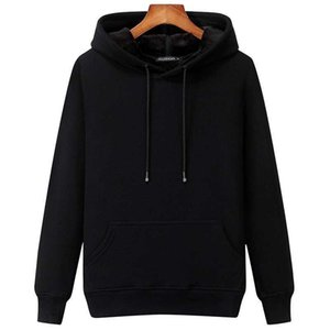 Sweater men's hooded top solid color couple's autumn and winter Plush thickened trend hoodie coat