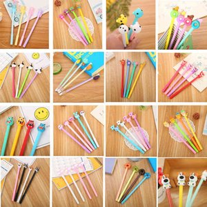 Gel Pens Students' neutral pen creative stationery soft plastic animation fountain pen a variety of cute cartoon pink neutral pen