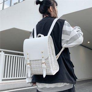White Ladies School Bags Classic Plaid Backpacks for Teenagers Girls Fashion Women for Women 2021 Mochila