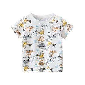 27kids ملابس الأطفال الصيف 2021 الأولاد الجديد الأكمام الكورية الأطفال تي شيرت ملابس الطفل