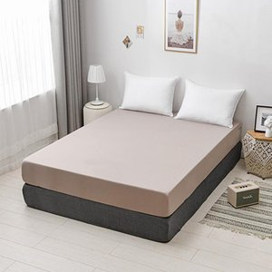 Sheets & Sets Modern Solid Color Bed Sheet Pure Cotton Washed Champagne With Elastic Band Mattress Protector Home Textile