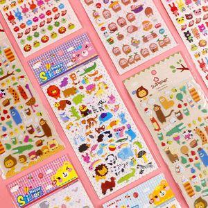 Children's Cartoon Bubble Sticker 3d Three-dimensional Animal Diary Hand Account Kindergarten Reward 1Y52723
