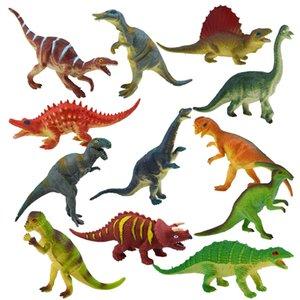 12 Kinds Novelty Games PVC Jurassic Tyrannosaurus rex duck-billed brontosaurus triceratops dinosaur toy model scary toys