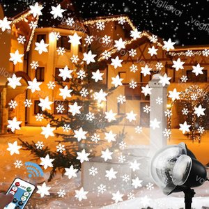 LED Effects Large And Small Snowflake Pattern Mix Snowing Lamp 10W With Controller Waterproof For Outdoor Projectors Garden Courtyard Lawn House KTV Cinema DHL