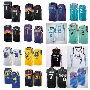 2021 basketball jersey 3 ChrisPaul 1 DevinBooker 7 Kevin Durant 2 lamelo ball 30 Stephen Currynbajerseys