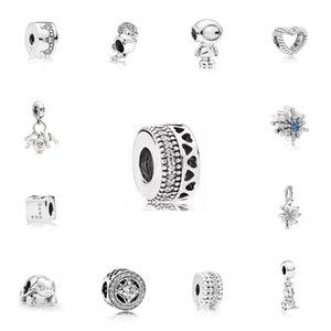 الفضة اللون اللانهائي تألق الحلو المنزل الخرز صالح باندورا الأصلي سحر أساور قلادة حلية مجوهرات للنساء diy صنع 815 T2