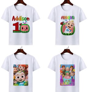 2021 Cartoon CoComelon Printed JJ Children's Short Sleeve T-shirt Fashion Baby Kids T Shirts For Boy And Girls Summer Clothes G336676