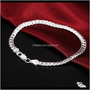 Bracelets Beautiful Elegant Wedding Women Men Sier Color 5Mm Snake Bracelet High Quality Fashion Classic Jewelry H199 Gift Wholesale S Awazq