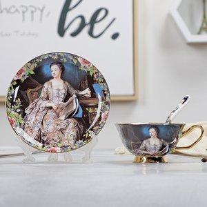 Bone China Kaffeetasse und Untertasse Set Advanced Royal Klassik Nachmittag Teeschalen Keramik