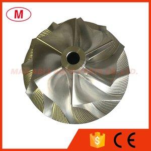 RHF55 43.15 59.94mm 6+6 blades Turbocharger Turbo Billet compressor wheel Aluminum 2618 Milling wheel for Isuzu Cartridge CHRA Core
