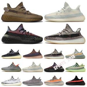 Adidas Yeezy Boost 350 V2 2021 kany v2 عاكس الأحذية تتلاشى الكربون الطبيعي الإسرافيل cerse الأرض زيون أوريك حكيم مارش رجل النساء المدربين أحذية رياضية