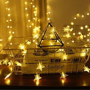 نجمة الجنية سلسلة ضوء 1.5 متر 10 led المنزل الديكور مهرجان حزب ديكور سلسلة ضوء حديقة ديكور نجمة سلسلة أضواء سلسلة DH1065