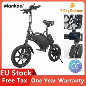 EU Stock Mankeel New Design Off-Rode Folding Electric Bicycle 7.8Ah Battery 14 Inch Air Tire Electric Bike 350W Motor Ebike MK016