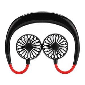 Pennello portatile del collo ricaricabile del collo ricaricabile della ventola portatile di raffreddamento a doppio sport di raffreddamento 360 gradi