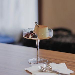 Ins 200мл ресторан коктейль вино стекло чашки кубок мороженое Йогурт пудинг десерт блюдо высокая чаша торт закуски контейнеры