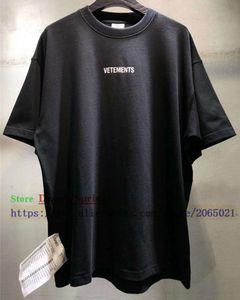 Sticker Kadın Erkek T-Shirt 1: 1 Yüksek Kaliteli Boy 280g Penye Pamuk Tees Vetements T Gömlek