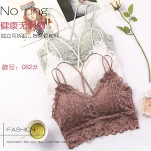 New Lace Buy Underwear with Cross Sling- Back Wrapped Around the Chest- Bottom Dressed- Detachable Pad- Bra Top- Female IUT3