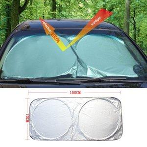 Car Sunshade 1x Foldable Sun Shade Windshield Durable Reflective Block Heat Cover 150*70cm Protection