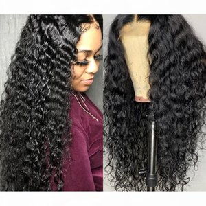Brazilian Curly Silk Base Human Hair Wig Glueless 13x6 Lace Human Hair Wig With Baby Hair Pre Plucked Lace Front Wigs 130% Density