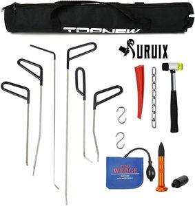 Rods Tools Hail Repair Kit Paintless Dent Tool Puller Kits Hammer Air Wedge S-Hook Bags For Door Ding Professional Hand Sets