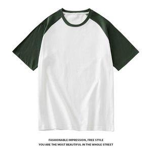 Short sleeve men's T-shirt pure cotton summer men's splicing t-shirt men's T-shirt