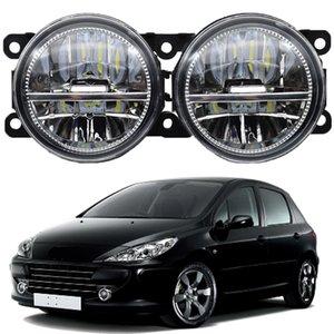 2PCS Fog Lamps lighting LED Lights Bumper Fog Lamp DRL 3 For Peugeot 307 Hatchback 3A 3C 2000-2008