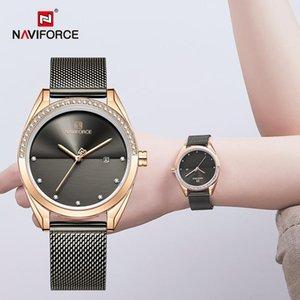 Wristwatches NAVIFORCE Ladies Watches Luxury Quartz Wristwatch Fashion Bracelet Women Waterproof Full Steel Clock Girl Relogio Feminino 2021