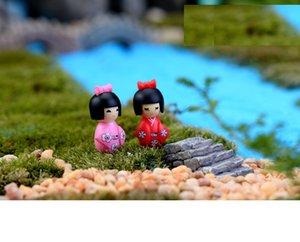 Güzel Mini Kek Toppers Kapsül Oyuncaklar Japanses Kızlar Microlandschaft Mix Ürünleri