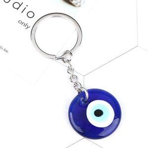 مصمم كيرينغ أزياء محظوظ التركية اليونانية الأزرق العين سحر قلادة هدية صالح diy سلسلة المفاتيح سلاسل السيارة الدائري جودة عالية 9FVP