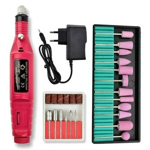 2021 New Professional Electric Nail Drill Machine Manicure drill set Milling Cutters Set Nail File 20000RPM Polishing EquipmentR