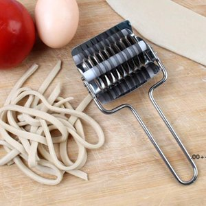Herramientas de pastelería de acero inoxidable Fideos de fideos Roller cortador Chalot Cutter Pasta Spaghetti Maker Máquinas Máquinas Manual Masa Press EWD5913