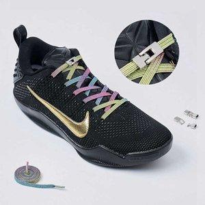 Çapraz Metal Kilit Elastik Ayakabı Düz Moda Renkli Yok Kravat Shoelace Çocuk Yetişkin Ayak Eğlence Sneakers Tembel Bağcıklar 1 Çift