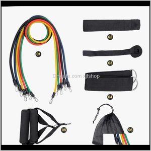 11Pcs Set Pull Rope Fitness Exercises Resistance Bands Latex Tubes Pedal Excerciser Body Building Workout Yoga Xg15W Dvvja