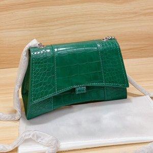 2021 Famous Designer Lady Fashion Hourglass bag Handbag classic Crocodile pattern women bags Shoulder-bag handbags ladies Cross-body-bag