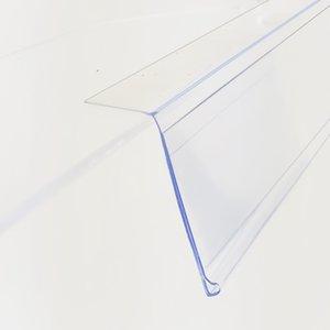 Bandes de données d'étiquettes de plateau en PVC en plastique par bandes adhésifs Marchandise Price Talker Sign Support de carte d'affichage L100 / 120cm sur rack de supermarché 50pcs