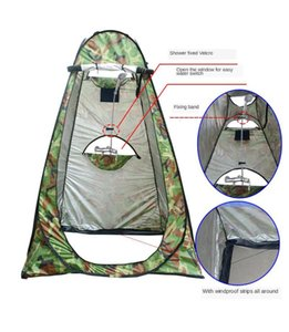 Three Windows Waterproof Silver-Coated Quick Automatic Openning Outdoor Shower Tent Toilet Changeable Mobile Tent