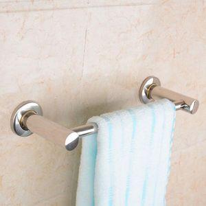 Towel Racks 48 38CM Stainless Steel Fixed Bath Holder Bathroom Bar Wall Mounted Hanger Single Hook Dual