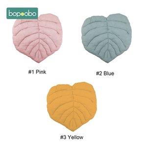 Bopoobo 1PC Cotton Leaves Cushion Tapis Enfant Toys mat for children Rug Blanket Rugs Baby Gym Carpet Newborn Kids Room Decor 210401