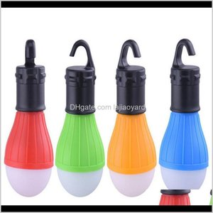 Gadgets 4 Color Outdoor Camping Equipment Lantern Tent Light Mini Portable Led Bulb Emergency Hiking Fishing Hook Flashlight Bbhmc Dvtqf