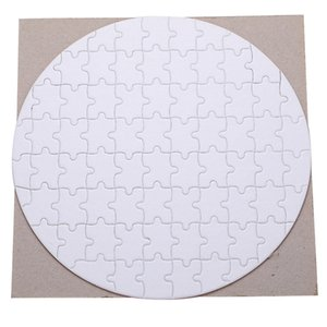 Round Shaped Sublimation Blanks Puzzles Jigsaw Puzzle DIY Puzzles Heat Press Transfer Crafts Blank Puzzle Sublimation Puzzle Blanks