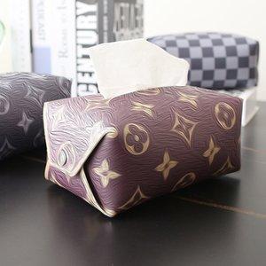 Кожаные старые бумажные полотенца коробки насосной этнической узор Геометрия творческий дом Nordic стиль гостиной на рабочем столе ванная комната