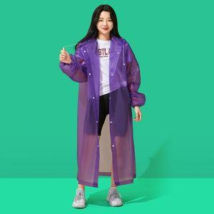 Raincoat anti rainstorm EVA fashion adult rain gear long poncho portable disposable raincoat outdoor