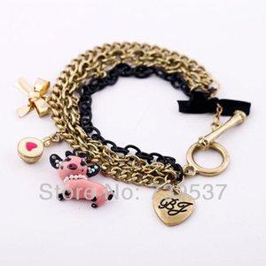 Charm Bracelets 2021 Design Many Chain Resin Bracelet Trending Animal Lovely Pig Pendant Romantic Jewellry