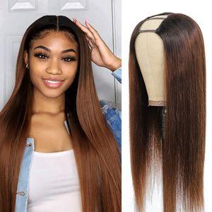 Ombre perruque droite couleur 1b u pièce perruque 1b / 30 perruques synthétiques pour femmes avec sangle réglable facile de marquer