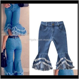 Baby, & Maternity Drop Delivery 2021 Toddler Girl Jeans Girls Flared Wide Leg Children Denim Pants Tassel Infant Baby Trousers Casual Kids Cl