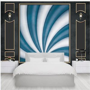 modern wallpaper for living room 3d stereo simulation leather abstract soft bag background wall mural