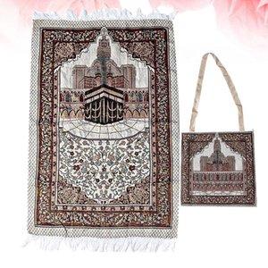 Carpets Vintage Mosque Printing Cotton Prayer Mat Floral Muslim Islamic Rug Rectangular Worship Carpet Meditation Pilgrimage Blan